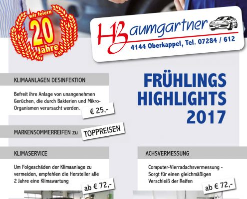 KFZ Baumgartner Fruehlingsaussendung 2017