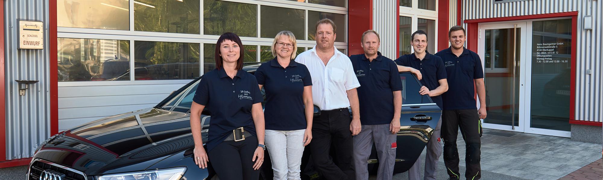 Das Team von KFZ-Baumgartner aus dem Bezirk Rohrbach in Oberkappel