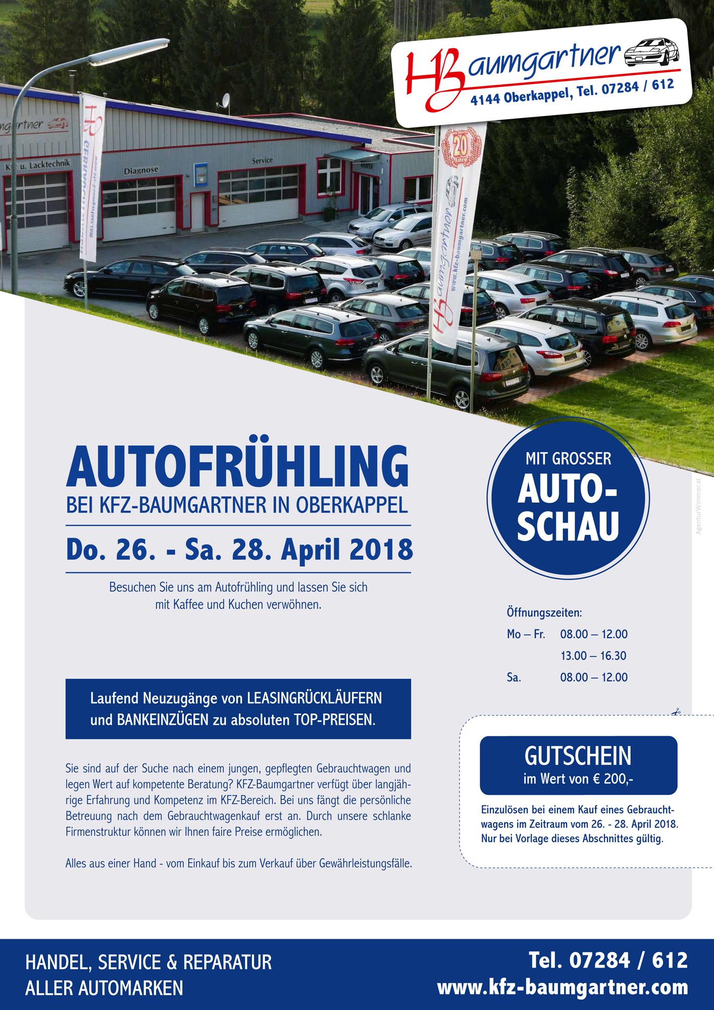 KFZ Baumgartner Autofrühling 2018
