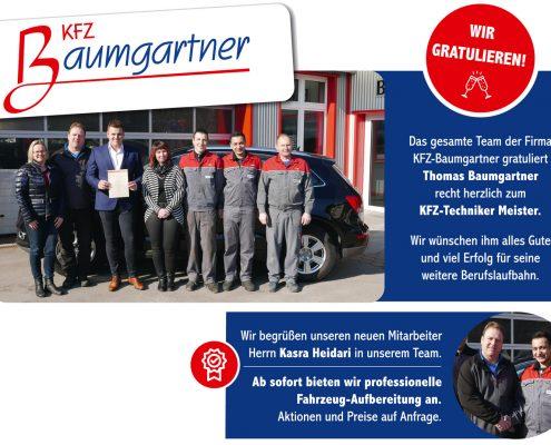KFZ Baumgartner Frühlingsnews