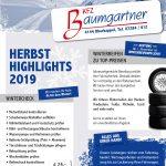 KFZ-Baumgartner Herbsthighlights 2019