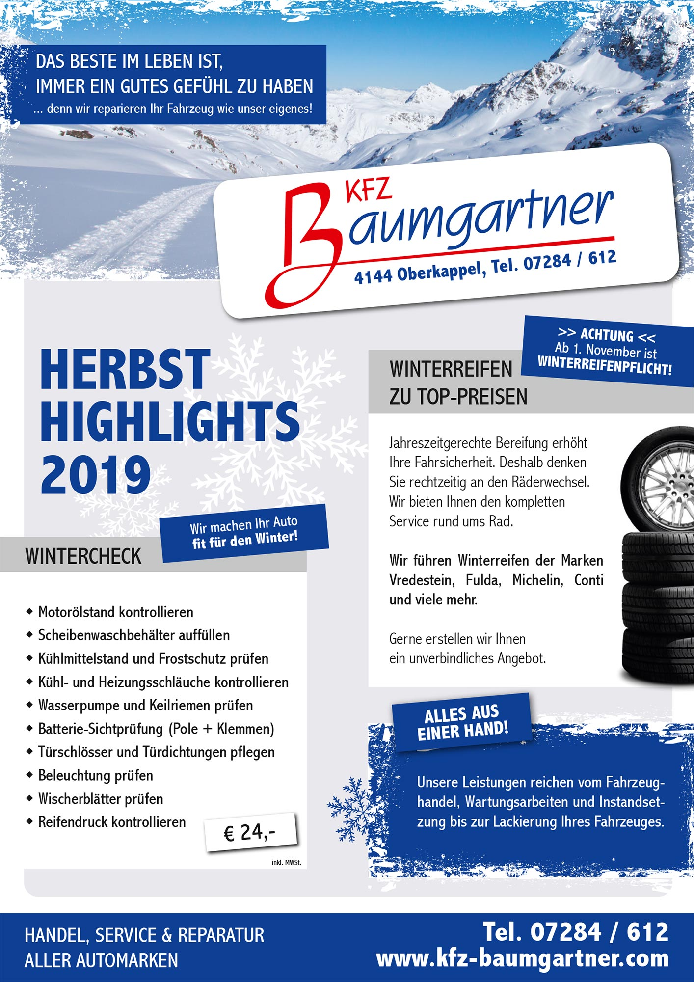 KFZ-Baumgartner Herbsthighlights 2019